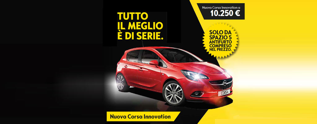 opel corsa innovation da spazio group a torino in super promo. Black Bedroom Furniture Sets. Home Design Ideas